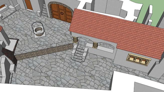 羅馬尼亞布蘭城堡(庭院級)SU模型【ID:440528018】