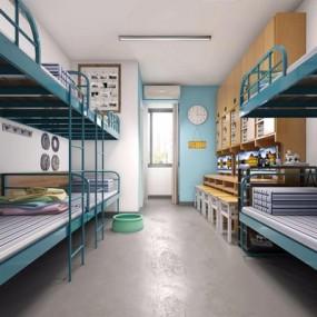 现代学生宿舍3D模型【ID:128220036】