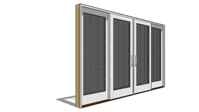 设计师系列滑动门-SU模型【ID:940529203】