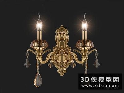 歐式壁燈國外3D模型【ID:829768873】