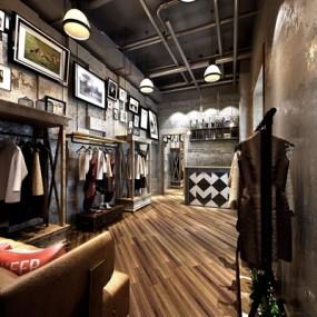 工业风服装店3D模型【ID:527973445】