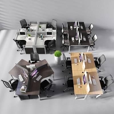 现代办公桌椅3D模型【ID:620601635】
