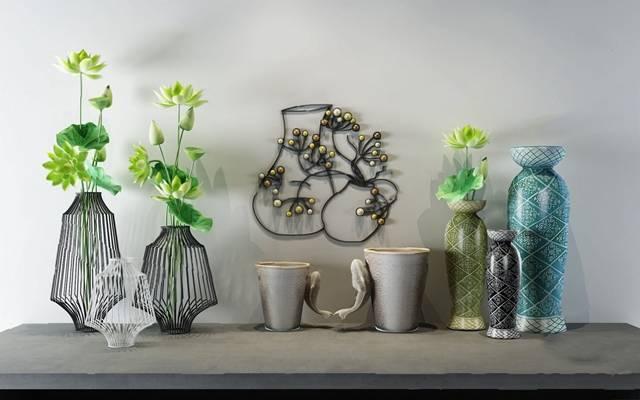 中式花瓶3D模型【ID:620619089】