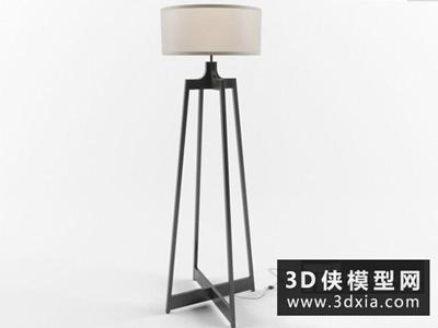 现代落地灯国外3D模型【ID:929365071】