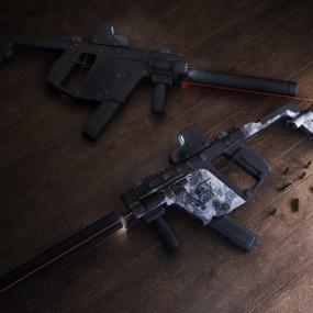 现代枪3D模型【ID:126234275】