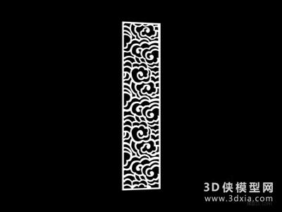 雕花隔斷國外3D模型【ID:929794558】
