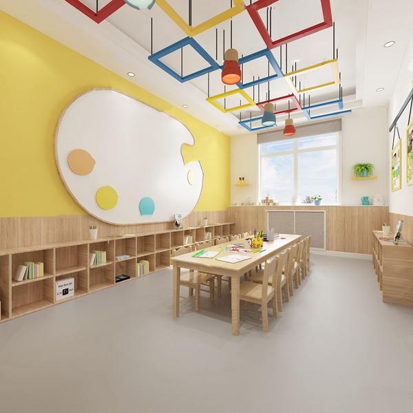 北欧幼儿园美术室3D模型【ID:947405649】