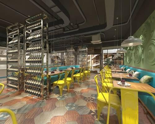 工业风餐厅3D模型【ID:120611814】