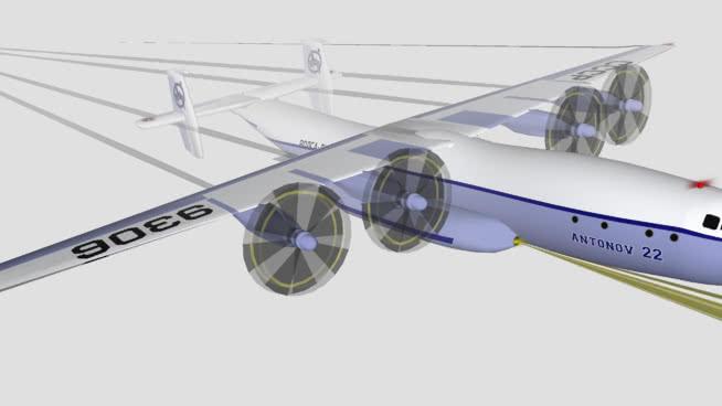飞机在飞行antheusSU模型【ID:840532520】