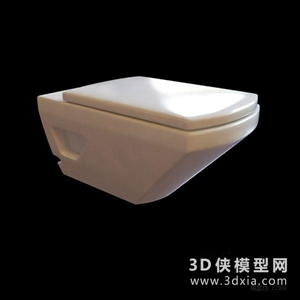 马桶国外3D模型【ID:929860923】