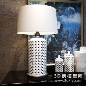 簡中臺燈國外3D模型【ID:829906974】