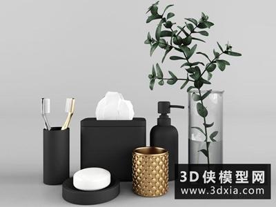 洗浴用品國外3D模型【ID:129497461】