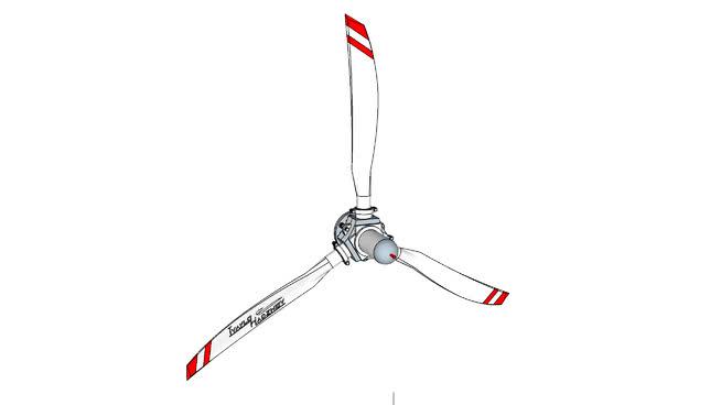 变螺距螺旋桨SU模型【ID:840534507】