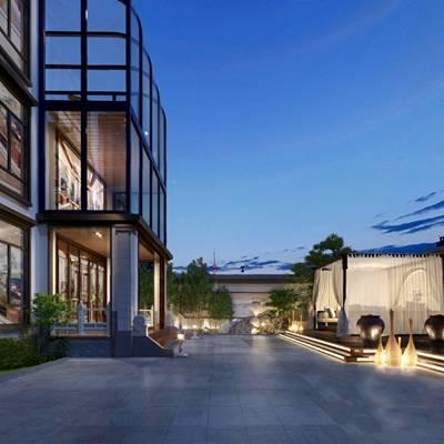 现代庭院3D模型【ID:324890626】