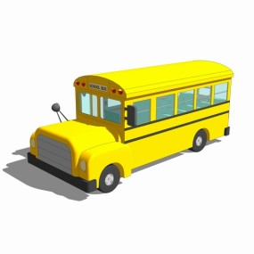 校车SU模型【ID:837118159】