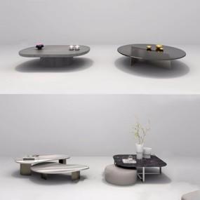 现代茶几3D模型【ID:628052051】