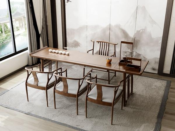 新中式茶室3D模型【ID:545862954】