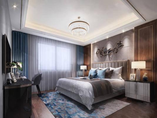 现代卧室3D模型【ID:419501307】