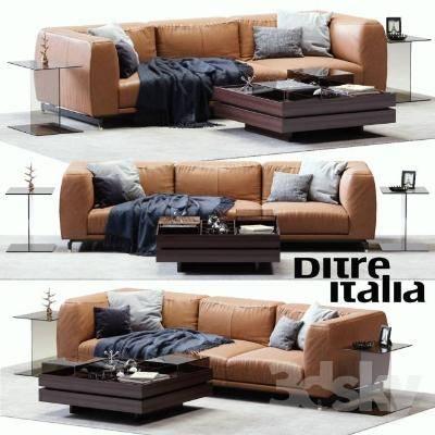 现代沙发茶几组合3D模型【ID:319845372】