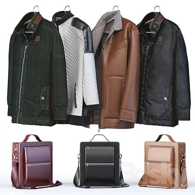 衣服包包组合3D模型【ID:419846121】