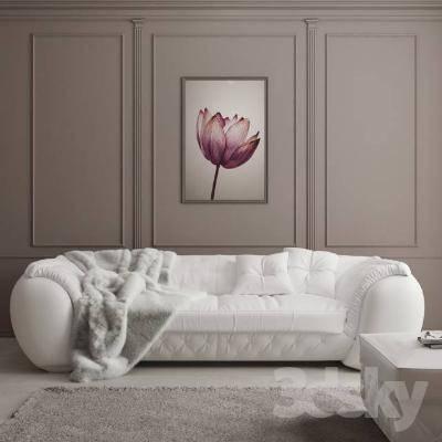 欧式简约多人沙发3D模型【ID:919855904】