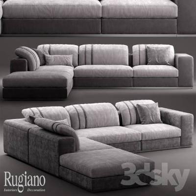 现代简约沙发3D模型【ID:119855067】