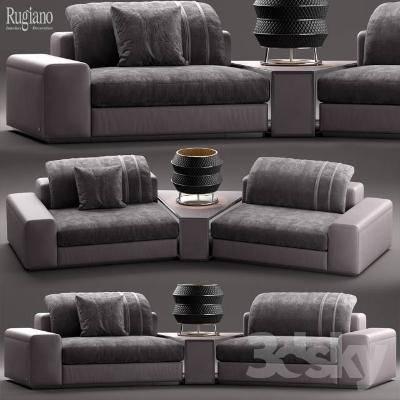 现代沙发组合3D模型【ID:119855069】