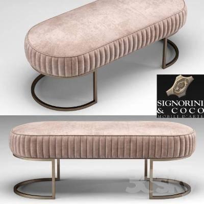欧式简约沙发凳3D模型【ID:419890211】