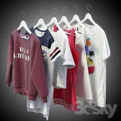 现代衣服3D模型【ID:419896172】