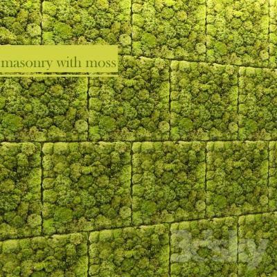 现代绿植墙3D模型【ID:219904034】