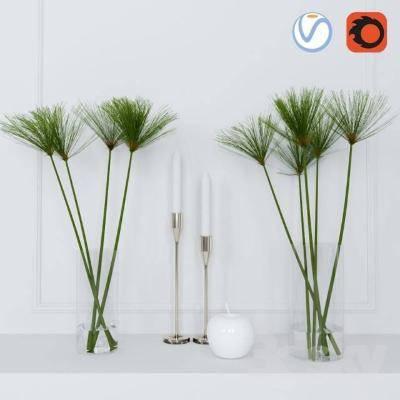 现代植物3D模型【ID:619927863】