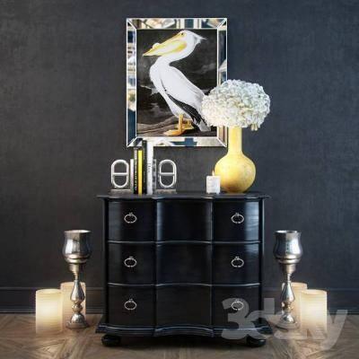 现代装饰柜3D模型【ID:920044286】