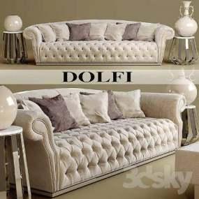 欧式简约沙发3D模型【ID:920063895】
