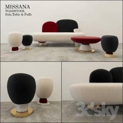 现代简约沙发3D模型【ID:120064076】