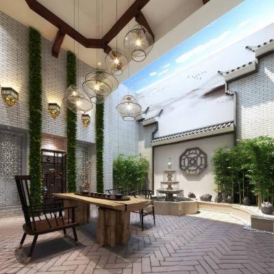 中式庭院3D模型【ID:120066630】