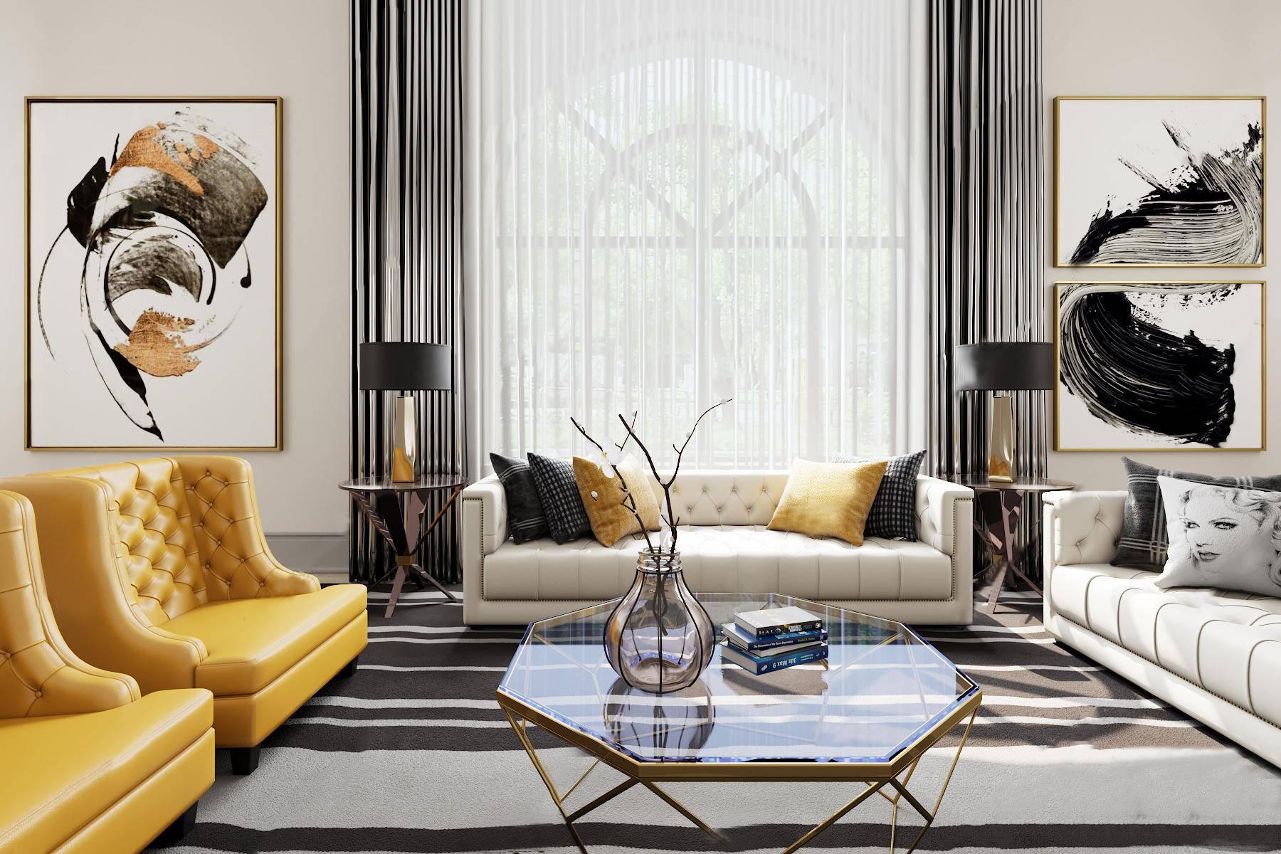 美式客厅沙发3D模型【ID:120465068】