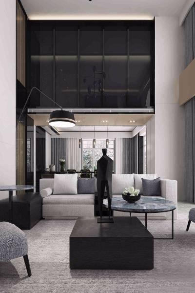 现代别墅客厅3D模型【ID:720514847】