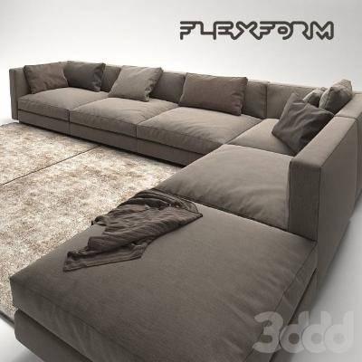 现代组合沙发3D模型【ID:120515044】