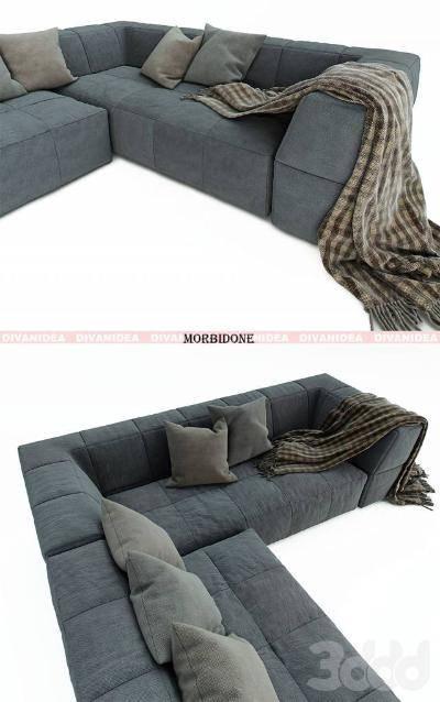 现代组合沙发3D模型【ID:120515048】