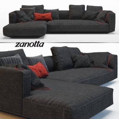现代沙发组合3D模型【ID:120517048】