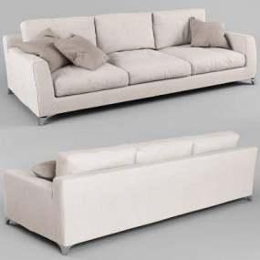 现代三人沙发3D模型【ID:920517863】