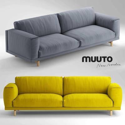 现代双人沙发3D模型【ID:920542775】