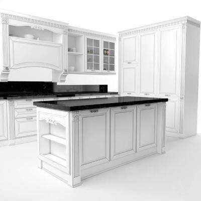 现代厨房橱柜组合3D模型【ID:720549309】