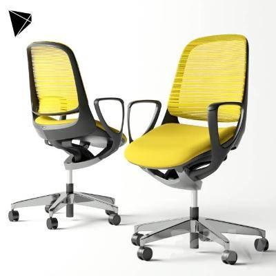 现代单人办公椅3D模型【ID:220549919】