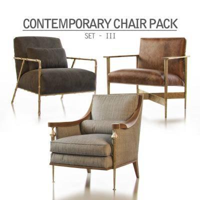 现代单人沙发椅模型3D模型【ID:920581492】
