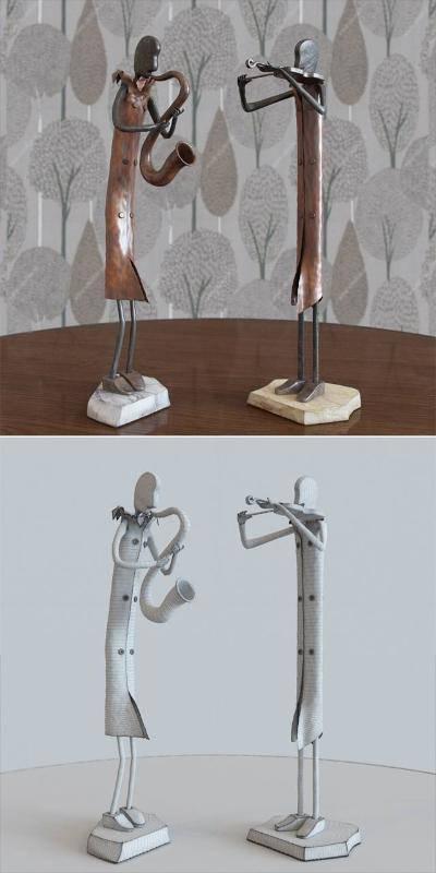 现代工艺品3D模型【ID:623158682】
