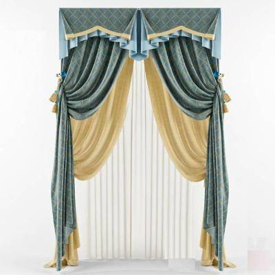 现代窗帘模型3D模型【ID:323417832】
