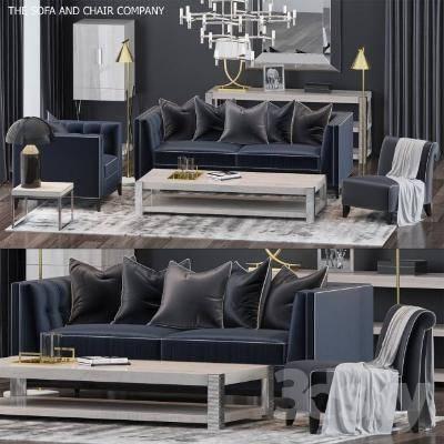 现代沙发茶几组合模型3D模型【ID:323471347】