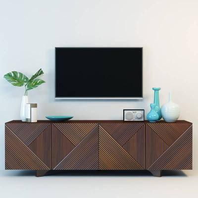 现代电视柜模型3D模型【ID:923487020】