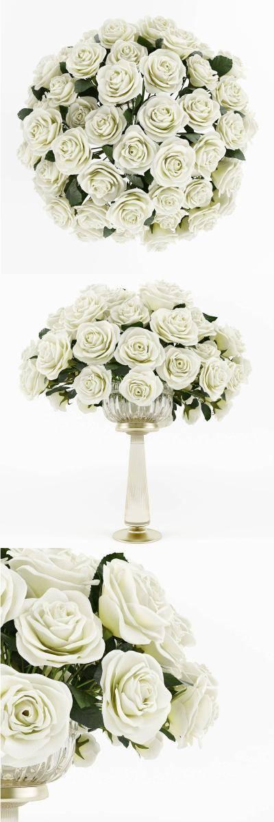 现代婚礼鲜花模型3D模型【ID:323487538】